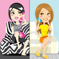 Gossip Girls Royalty Free Stock Photography