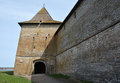 Gosudareva tower of the fortress at shlisselburg city called oreshek nut Royalty Free Stock Photos