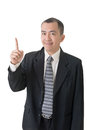 Got an idea mature businessman of asian closeup portrait Royalty Free Stock Image