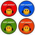 Got music colorful icons for happy listeners Royalty Free Stock Photo