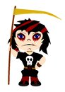 Goth girl cartoon on a white background Royalty Free Stock Photos