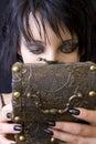 Goth woman's treasure box Royalty Free Stock Photo