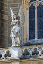 Gothic angel architecture detail of church Stock Photography