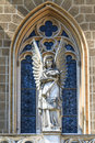 Gothic angel architecture detail of church Stock Image
