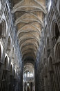 Gothic Arches in Rouen Cathedral Royalty Free Stock Photo