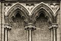 Gothic arches at the side of Ely Cathedral, Royalty Free Stock Photo