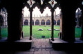 Gothic architecture in canterbury cathedral film scan Stock Images