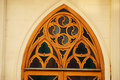 Gothic architecture detail of a Stock Image