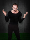 Gothic artist like mime emotion and face for an Stock Images