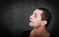 Gothic artist like mime emotion and face for an Stock Image