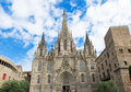 The gothic barcelona cathedral holy cross and saint eulalia spain Stock Image