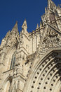 Gothic barcelona cathedral vertically view of catalunya spain Royalty Free Stock Photography