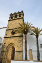 Gothic bell tower in Ronda Stock Photo