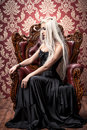 Gothic and blonde Royalty Free Stock Photo