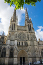 Gothic bordeaux cathedral cathedrale saint andre de is a roman catholic seat of the archbishop of bazas Stock Photography