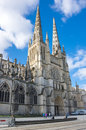 Gothic bordeaux cathedral cathedrale saint andre de is a roman catholic seat of the archbishop of bazas Royalty Free Stock Photo