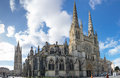 Gothic bordeaux cathedral france may cathedrale saint andre de is a roman catholic seat of the archbishop of Stock Images