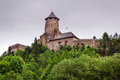 Gothic castle stara lubovna in slovakia Royalty Free Stock Images