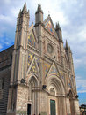 The gothic Cathedral of Orvieto Stock Image