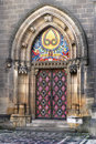 Gothic Cathedral Portal Royalty Free Stock Photo