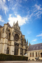 Gothic cathedral at reims in the champagne region in france Stock Images