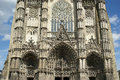Gothic cathedral of saint gatien tours france built between and Stock Photo