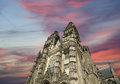 Gothic cathedral of saint gatien tours france built between and Stock Image
