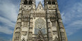Gothic cathedral of saint gatien tours france built between and Stock Images