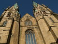 Gothic cathedral in skara sweden Stock Images