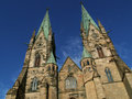 Gothic cathedral in skara sweden Royalty Free Stock Images
