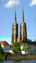 Gothic cathedral in wroclaw poland of st john the baptist Royalty Free Stock Image