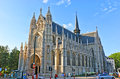 The gothic church brussels belgium june of notre dame du sabon is pearl of late architecture it s famous for brightly Royalty Free Stock Photography