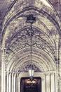 Gothic church entrance Royalty Free Stock Photo