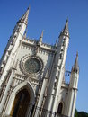 Gothic church facade Royalty Free Stock Image