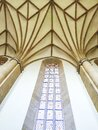 Gothic church interior Royalty Free Stock Photo