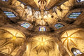 Gothic church interior Royalty Free Stock Photo