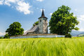 Gothic church in Ludrova village near Ruzomberok in Slovakia