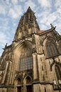 Gothic church in munster muenster germany view on the lamberti germany Royalty Free Stock Images