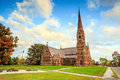 Gothic church in new england the of the good shepherd episcopal Royalty Free Stock Photography