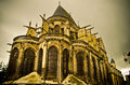Gothic church old in compiegne france Royalty Free Stock Image