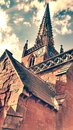 Gothic church old in vintage colours Royalty Free Stock Photos