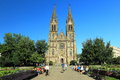 Gothic church in Prague Stock Photos