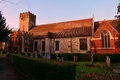 Gothic churchyard and cemetery english Royalty Free Stock Photo