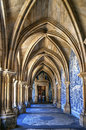 Gothic cloister of the cathedral of Porto Royalty Free Stock Photo