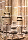 A gothic column base, from segovia Royalty Free Stock Photo