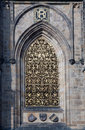 Gothic detail of  Prague Castle Stock Photos