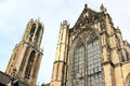 Gothic Dom Tower and Church, Utrecht, Netherlands Royalty Free Stock Photo