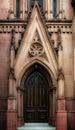 Gothic Door Royalty Free Stock Photo