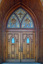 Gothic Doors Stock Photography