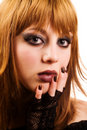 Gothic or emo girl Royalty Free Stock Photos